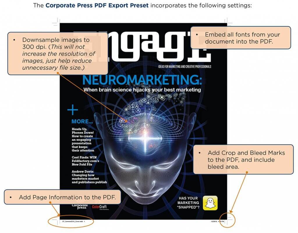 PDF Preset Instructions   Corporate Communications Group
